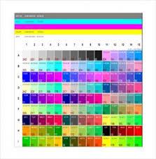 Gcmi Color Chart 2019 Pantone Color Chart Template Judicious Printable