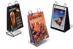 Menu Flip Charts 31 Best Displays For Restaurants Images Table Tents Point