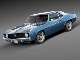 camaro ss 1969 3d model