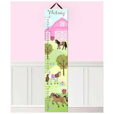 Toad And Lily Growth Chart Horse Barn Personalized Growth Chart
