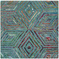 safavieh nantucket blue 4 ft x 4 ft square area rug