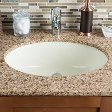 undermount bathroom sink oval.  Bathroom Ceramic Oval Undermount Bathroom Sink With Overflow Throughout 9