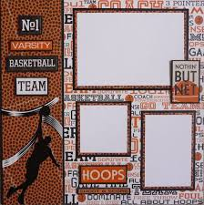 varisty basketball layout scrapbook basketball mom and scrapbooking