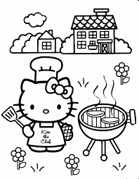 Small Picture Cat Color Pages Printable Kitten Coloring The Barn Hello Kitty