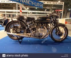 liege vine show 2010 vincent motorcycle stock image