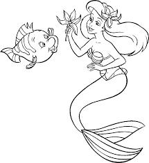Dessin Colorier Petite Sirene 2
