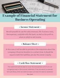 Financial Statement Examples Examples Of Financial Statements For Business Record