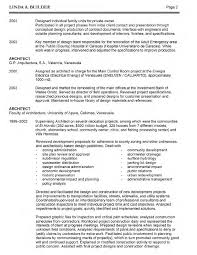 architect resume architect resume sample architect resume