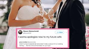 this dude thought his last name wouldn't work for a wedding Wedding Hashtags Punny love \u003e weddings wedding hashtag funny