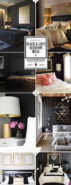 black white and gold bedroom decor | -