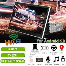 Máy Nghe Nhạc Đa Phương Tiện 10.1 2G + 32G Dành Cho Android 6.0 Dàn Âm  Thanh Xe Hơi 1DIN 4 Nhân Bluetooth WIFI GPS nav Quad Core Video Đài MP5  Người Chơi 