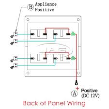 4 gang switch panel wiring diagram double gang light switch wiring basic 12 volt boat wiring diagram at 12v Switch Panel Wiring Diagram