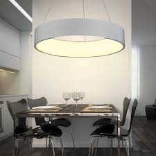 modern led pendant lights ring suspension for dining room pendant lamps home decoration brighter light fixtures round 60cm lamp pendant glass pendant lamp
