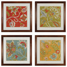 >wall art designs wall art sets sterling industries provincial  wall art sets sterling industries provincial chintz 4 piece framed graphic art set