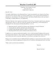 Registered Nurse Cover Letter Template Nursing Cover Letter Template ...