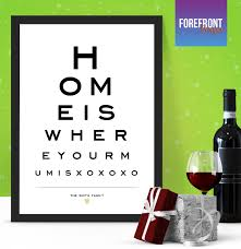 Wine With Eye Chart Label Personalised Eye Chart Print Ideal New Family New Home Gift