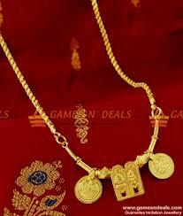 Types Of Thali Designs Thal23 Full Thali Set With Chain Gold Plated Jewelry Meenakshi Sunderashwar Design