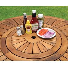 furniture large round patio table with lazy susan umbrella glass furniture top enchanting crafty design