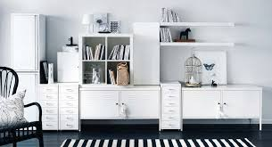 ikea home office storage. Wonderful Ikea Unique Office Modern White Interior Ikea Commercial With Furniture  Inside It Also Has Cabinet That Seems So Elegant And Clean For U  Home Storage H