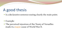writing a good thesis statement 4
