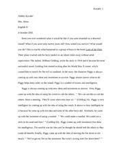 english sophomore   new berlin high school   course hero  pages piggy lord of the flies essay