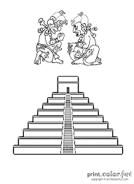 Small Picture Mayan pyramid Print Color Fun Free printables coloring pages