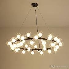 magic bean modern led pendant chandelier lights for living room dining room g4 gold black white glass chandelier lamp fixtures blue pendant light drum