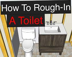 how to install a toilet in a basement