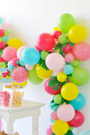 Aqua Lime Green Yellow Hot Pink And Light Pink Balloon Birthday