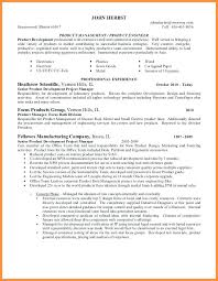 Product Manager Resume Sample Product Manager Resume It Project