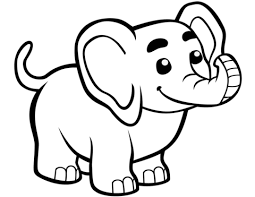 Cute Baby Elephant Coloring Page Free Printable Coloring Pages