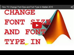 matlab axis font size how to change font size and font type in matlab 2015 youtube