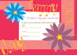 Greek Anemone Mothers Day Gift Certificate Template