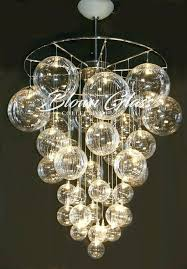 glass bubble chandelier celestial molecules hand blown glass chandelier bubbles glass chandelier by solaria home