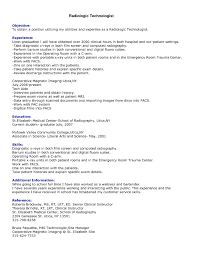Additional Information On Resume Professional Resumes Radiologist Radiologic Technologist Resume 47