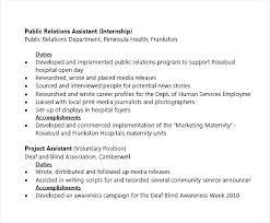Sample Public Relations Resume Public Relations Resume Samples