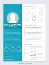 graphic designer resume cv vector graphic resume mockup template