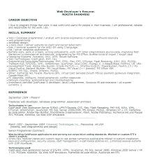 Computer Programmer Resume Examples Entry Level Programmer Resumes