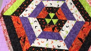 sew with me quilted hexagon table topper or wall hanging