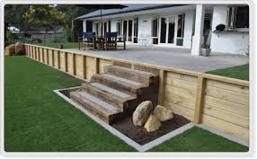 Small Picture Timber Retaining Wall Construction Company Auckland
