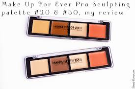 make up for ever pro sculpting palette 20 30 my review