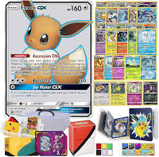 Amazon.com: Totem World Eeveelution Card Ultra Rare GX Lot with Totem  Storage Case, Collectors Binder Album & Deck Box, Includes 1 GX/EX, 3 Eevee  Evolutions, 1 Basic Eevee, 10 Rares and 10