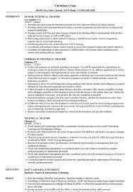Trainer Resume Sample Technical Trainer Resume Samples Velvet Jobs 25