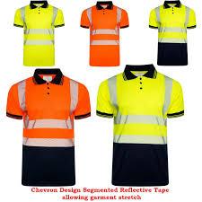 Hi Vis T Shirt Design Details About Hi Vis Viz Polo Shirt Short Sleeve Chevron Design Segmented Reflected Tape Work