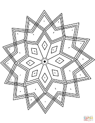 Small Picture Indian Pattern with Octagram Star coloring page Free Printable