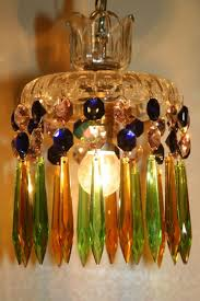 beautiful coloured glass chandelier