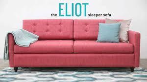 pink sleeper sofa. Modren Sofa The Eliot Sleeper Sofa By Joybird Furniture In Pink R