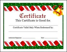 christmas certificates templates download christmas certificate template word doc sample templates