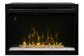 26 dimplex curved glass front multi fire xd electric fireplace insert pf2325cg