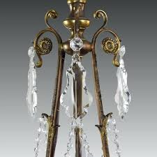 vintage french chandelier vintage french bronze and crystal 3 light chandelier vintage french empire crystal chandelier